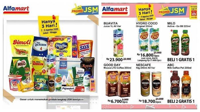 Katalog Promo JSM Alfamart Periode 7-9 Agustus 2020, Minyak Goreng Bimoli Pouch 2 Liter Rp 23.200