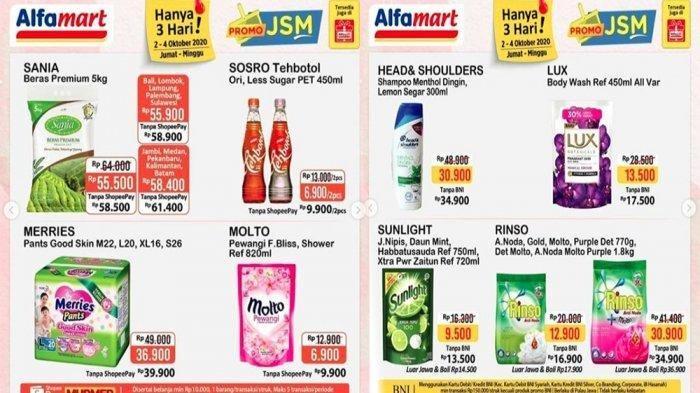 Katalog Promo JSM Alfamart Berlaku 2 - 4 Oktober 2020, Pampers Merries Cuma Rp 36.900