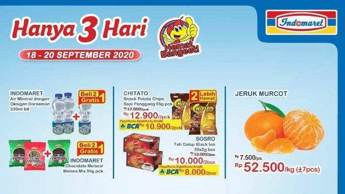 Katalog Promo JSM Indomaret Periode 18-20 September 2020, Pakai Debit/Kredit Makin Murah