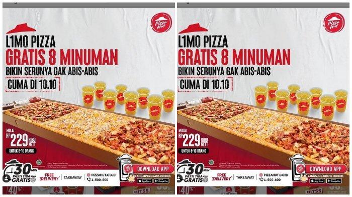 Promo Limo Pizza: Gratis 8 Minuman, Cuma di 10.10 Harga Mulai Rp 229.000