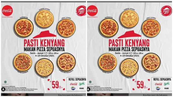 Promo Pizza Hut Pasti Kenyang Makan Pizza Sepuasnya Hanya Rp 59.000
