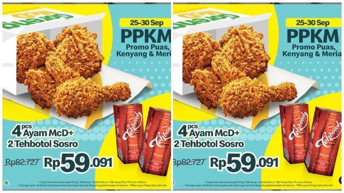 Promo PPKM dari McDonalds: 4 pcs Ayam Krispy dan 2 Teh Botol Sosro Hanya Rp 59.091