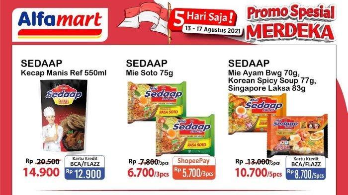 Promo Spesial Merdeka Alfamart 13-17 Agustus 2021: Mie Sedaap Soto Rp 5.700/3 pcs
