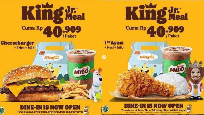 Promo Burger King: King Jr Meal Cuma 40.909 per Paket, Ini Varian Menunya