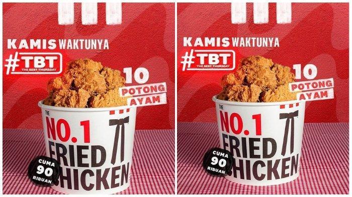 Promo KFC: 10 Potong Ayam Cuma Rp 90.000 an