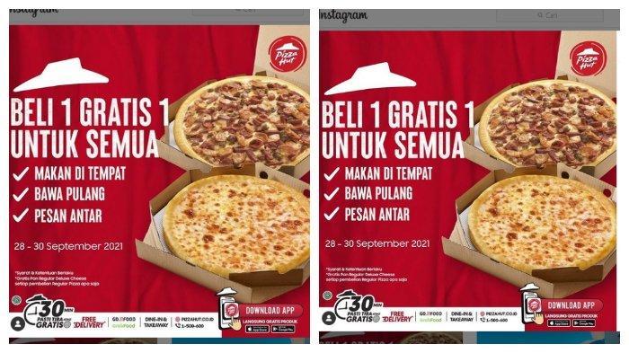 Promo Pizza Hut: Gratis 1 Pan Regular Deluxe Cheese Setiap Pembelian 1 Regular Pizza Apa Saja