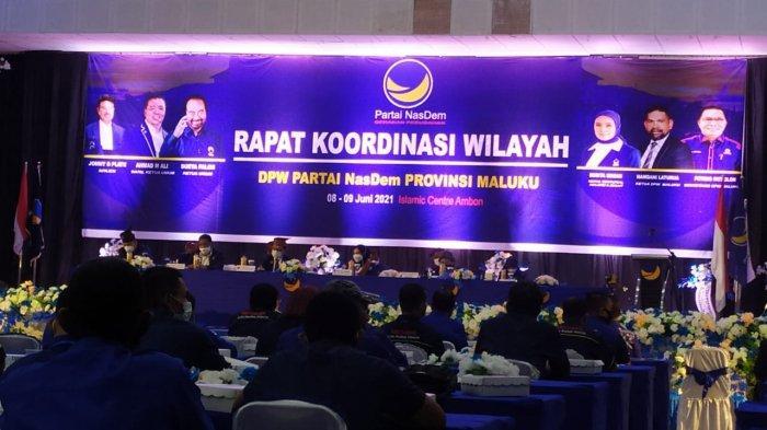Suyoto Kagum Lihat Pemuka Agama di Maluku Bergantian Mimbar Doa di Rakorwil Nasdem