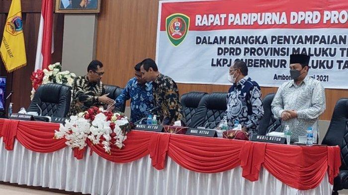 Begini Kata Murad Ismail Saat DPRD Maluku Sampaikan Lima Poin Rekomendasi LKPJ Gubernur