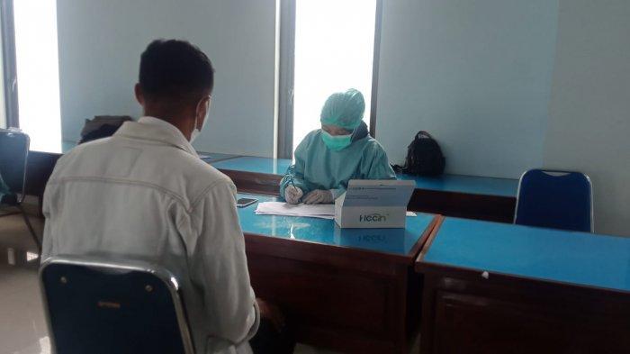 Rapid antigen gratis bagi peserta CPNS di Pemkot Ambon, Rabu (22/9/2021).