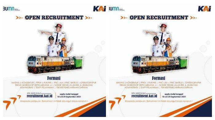 Lowongan Kerja PT Kereta Api Indonesia, Formasi: Masinis hingga Pengawas Stasiun