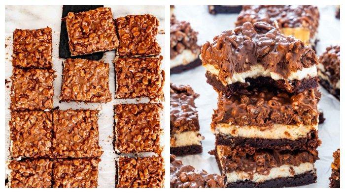 Resep Rice Crispy Brownies Triple Layer Camilan Sempurna dengan 3 Lapisan Lezat