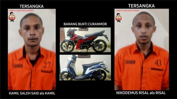 Curi Motor di Kota Ambon, Dua Pemuda ini Ditangkap Polisi