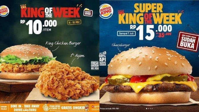 Promo Burger King Periode 6-12 Juli 2020: Harga Mulai Rp 5.000, Syarat dan Ketentuan Berlaku