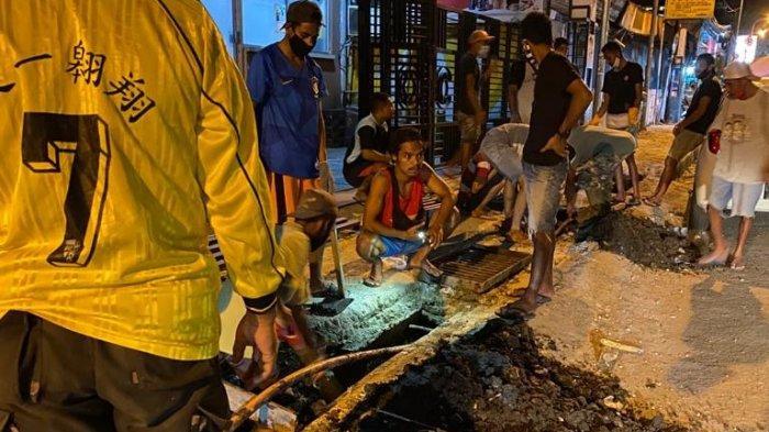 Antisipasi Banjir, Dinas PUPR Maluku Revitalasi Trotoar di Kota Ambon