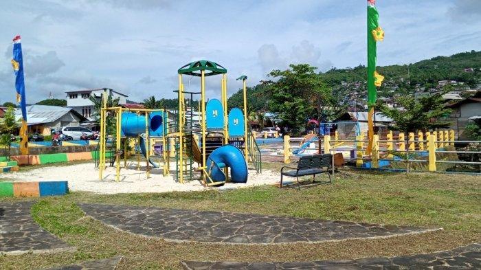 Salah satu sudut Taman di RTH Wainitu, Ambon