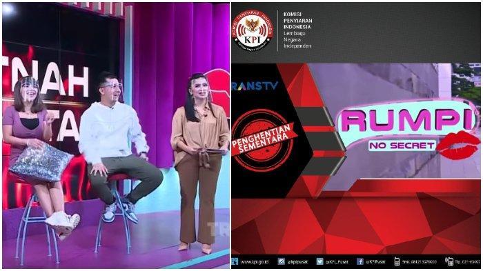 Gara-gara Bahas Penjualan Celana Dalam Bekas Dinar Candy, Rumpi No Secret Kena Sanksi dari KPI