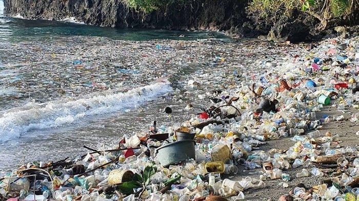 Potret Sampah di Pantai Desa Seilale, Ambon Viral di Media Sosial