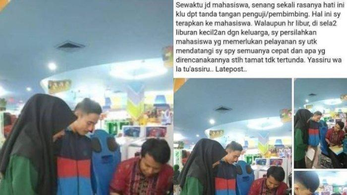 Viral Dosen Dihampiri Mahasiswa Bimbingan Skripsi saat Liburan dengan Keluarga, Layani dengan Ikhlas