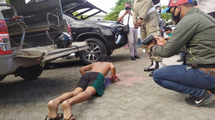 Transisi PSBB Tahap 7, Satgas Covid-19 di Ambon Lakukan Operasi Yustisi Masuk Gang Permukiman Warga
