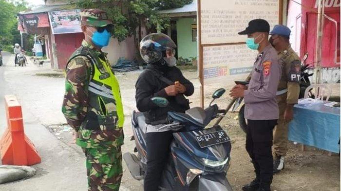 Covid Melandai, Tim Yustisi Tetap Lakukan Pengawasan Prokes di Perbatasan Kota Ambon