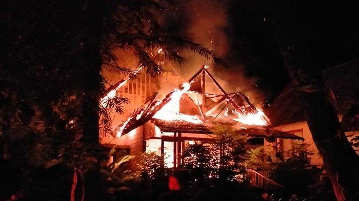 Resort di Desa Suli Milik Anggota DPD Asal Maluku Terbakar, Polisi Selidiki Penyebabnya