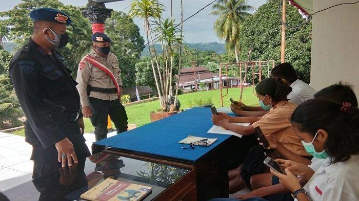 Mako Brimob di Ambon Sediakan Internet Gratis Untuk Pelajar di Tengah Pandemi Covid-19