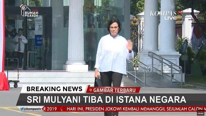 Live TV Online Kedatangan Para Calon Menteri Kabinet Jokowi di Istana, Sri Mulyani Pertama
