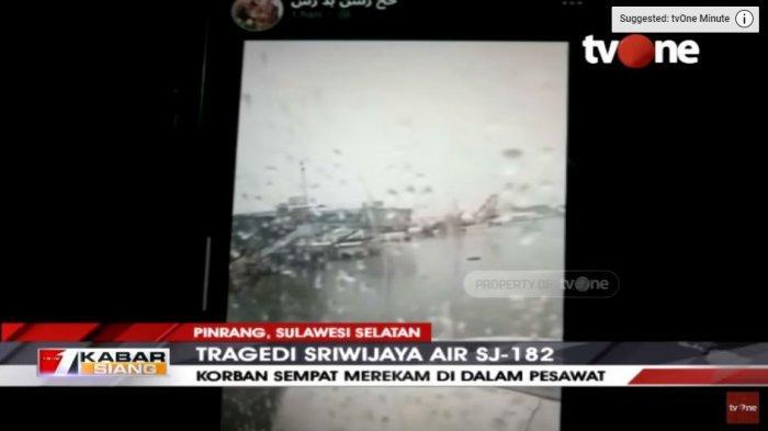 Penumpang Rekam Suasana Sriwijaya Air SJ182 Sebelum Take Off, Tampak dari Jendela Cuaca Sedang Hujan