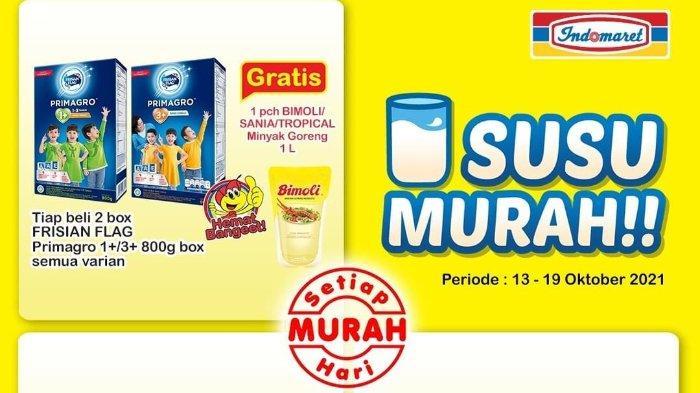 Promo Super Hemat 13-19 Oktober 2021: Beli 2 Box Frisian Flag Primagro Gratis Minyak Goreng 1L
