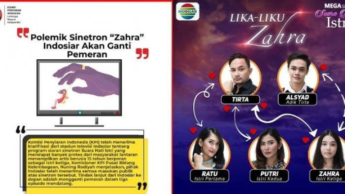 Pihak Indosiar Buka Suara Soal Polemik Sinetron Suara Hati Istri, Zahra Ganti Pemeran