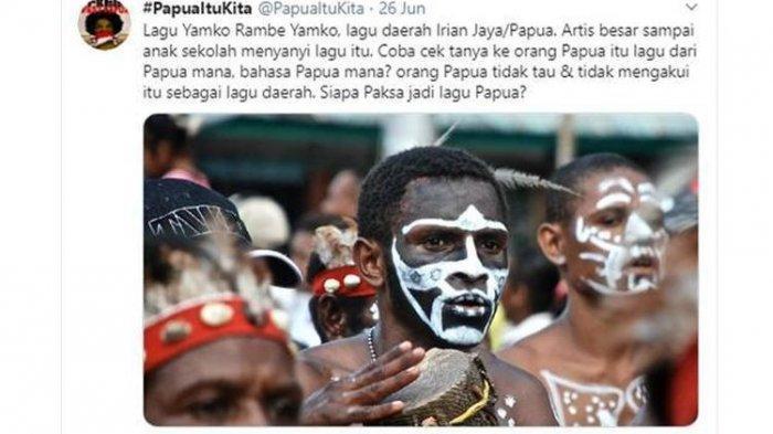 Soal Lagu Yamko Rame Yamko yang Disebut Bukan Berasal dari Papua, Ini Kata Antropolog