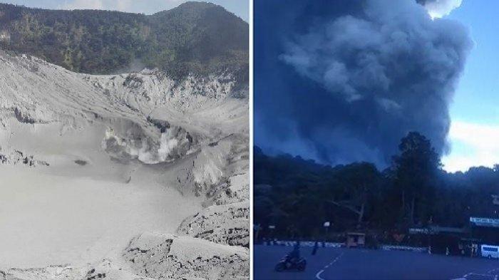 Penampakan Terkini Gunung Tangkuban Parahu, Abu Tebal Menyelimuti