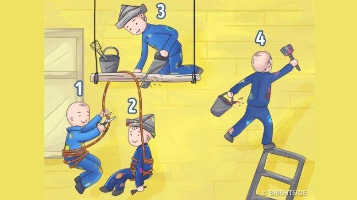 Menurutmu, Mana yang Paling Bodoh dari 4 Orang Ini? Jawabanmu Tunjukkan Kepribadianmu