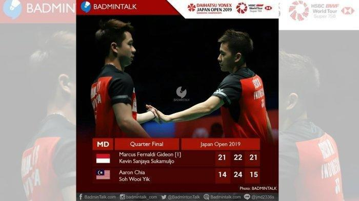 Semifinal Japan Open 2019, 5 Wakil Indonesia Lolos, 3 Wakil Gugur, The Minions Unggul