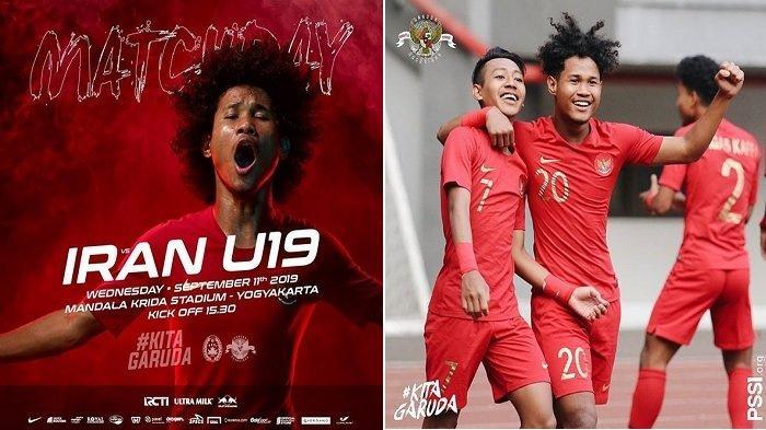 Sedang Main Live TV Gratis Timnas U19 Indonesia vs Iran U19, Akses di Sini via HP
