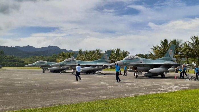3 Pesawat Tempur F-16 Dikerahkan Pantau Laut Maluku, Ada Apa?