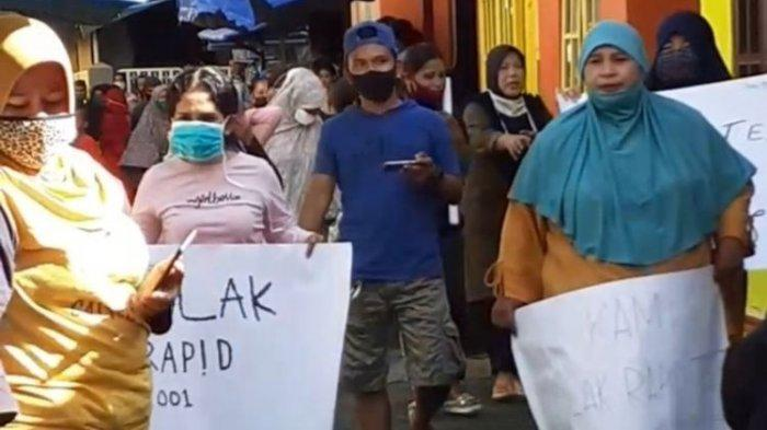 Dinkes Ambon Tanggapi Demo Warga Tolak Rapid Test, Ada yang Bawa Spanduk: COVID-19 Lahan Bisnis