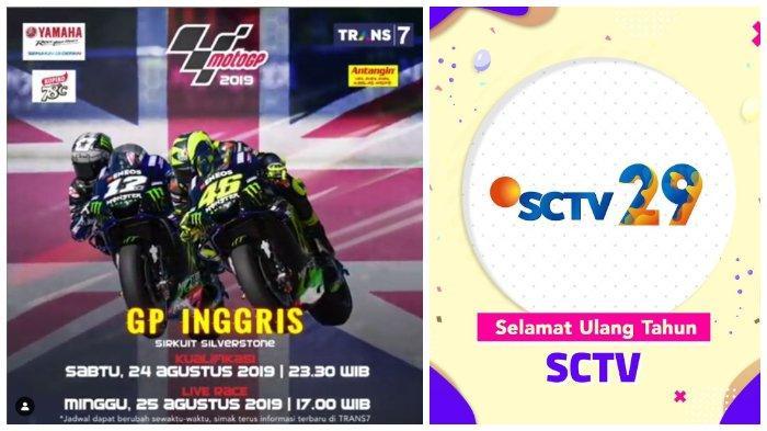 Acara TV Hari Ini Sabtu 24 Agustus 2019, Kualifikasi MotoGP 2019 Trans 7, Malam Puncak 29 Tahun SCTV