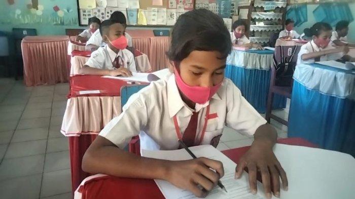 Ujian Sekolah Tingkat SD di Masohi Terapkan Prokes