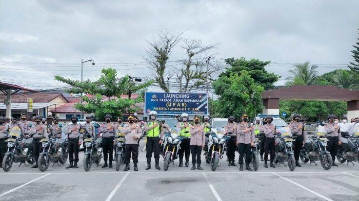Jaga Ketertiban Masyarakat, Polresta Ambon Luncurkan Unit Patroli Aman Ramadhan