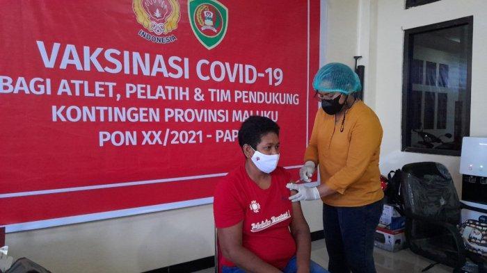 Jelang Pelatda Terpusat, Atlet PON XX Asal Maluku Divaksin Covid-19 Dosis Pertama