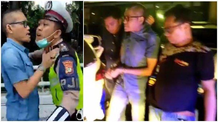 Viral Video Pria Tak Terima Ditilang hingga Cekik Polisi, Tampak Pasrah saat Ditangkap Aparat