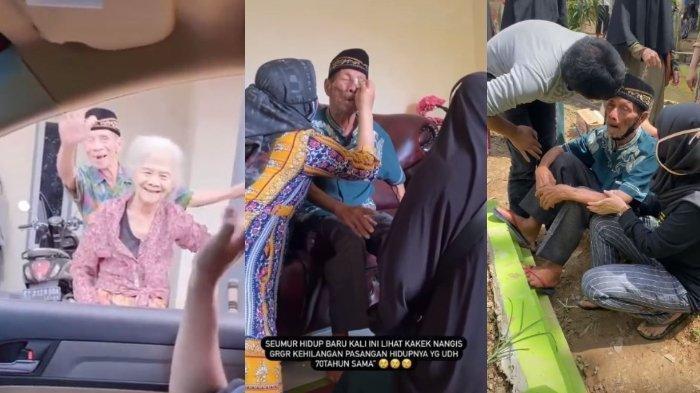 VIRAL Video Pilu Kakek Tangisi Istrinya Meninggal, Murung Sejak Istri Sakit hingga Mogok Makan