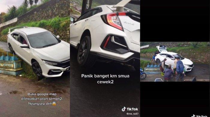 Viral Mobil yang Dikendarai Wanita Nyungsep di Jalan Sempit, Ini Cerita di Baliknya