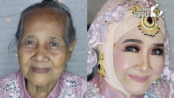 VIRAL Foto Before After Wajah Nenek Di-Make Up Pengantin, Tampak Flawless
