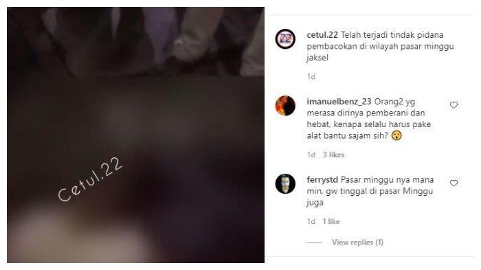 Viral pembacokan di warung pecel lele Jaksel
