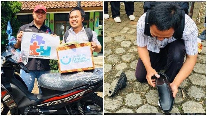 Viral Seorang Guru Honorer Gunakan Sepatu Bolong, Ternyata Sosok Ini yang Berikan Sepatu Baru