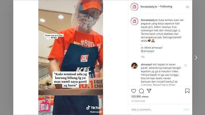 Viral Pegawai KFC Berikan Pelayanan Sepenuh Hati, Perekam Ceritakan Betapa Baik dan Cekatannya