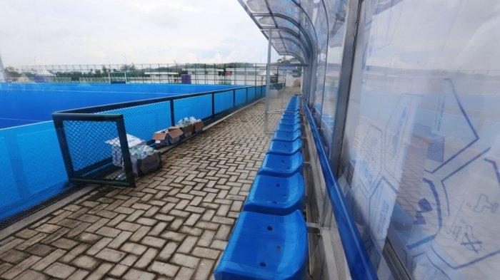 Suasana Venue Hockey Indoor dan Outdoor PON XX Papua di Kampung Doyo Lama, Kabupaten, Sentani, Jayapura, Papua, Jumat (24/9/2021).