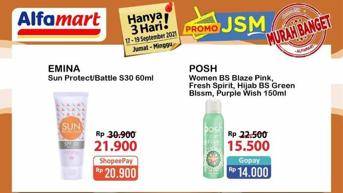 Katalog Promo JSM Alfamart 17-19 September 2021: Posh Parfum 150ml hanya Rp 14.000